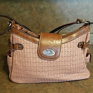 b87583850f 2  20 Rosetti- peach weave w brown leather.  15  70